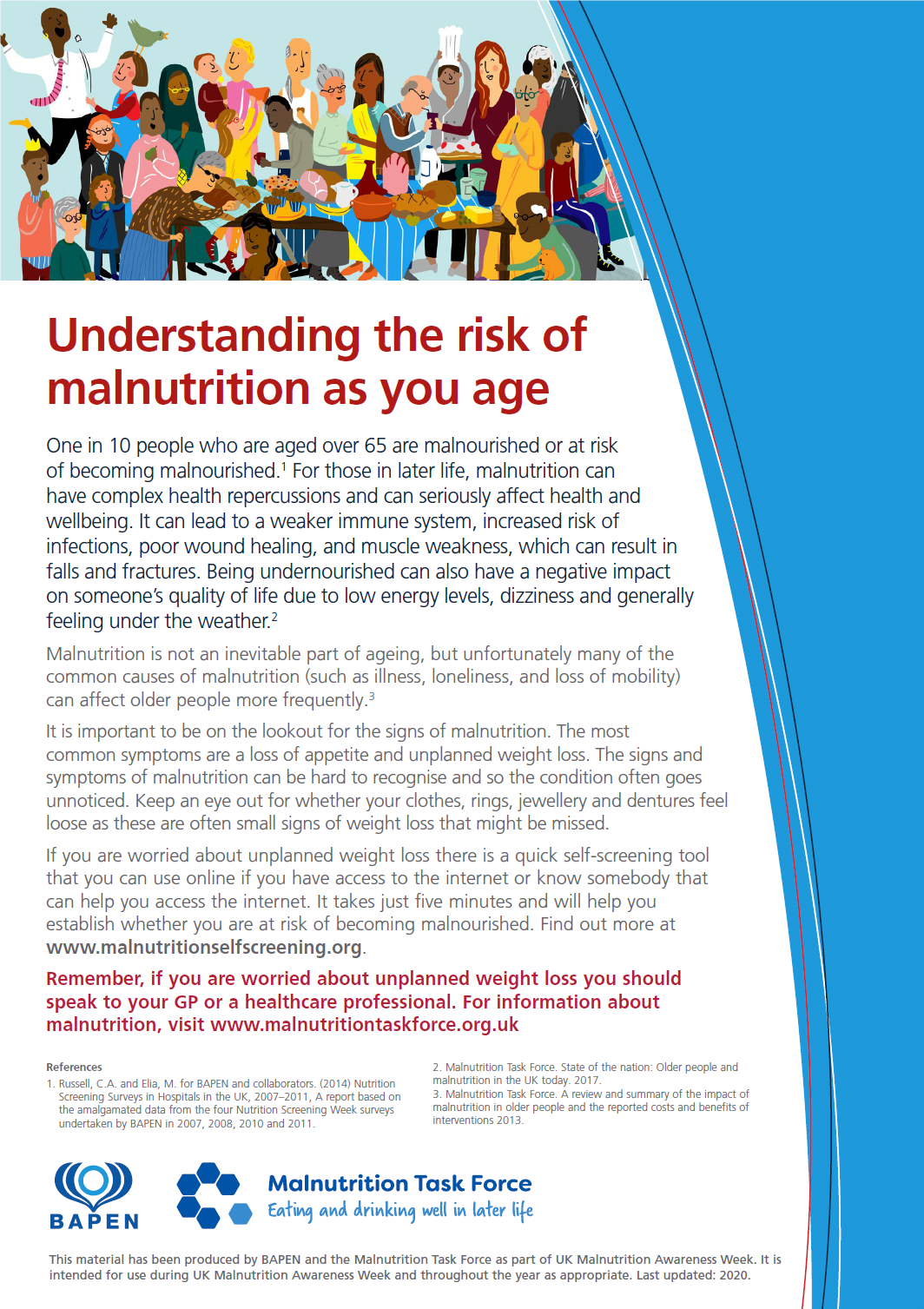 Understanding Risk poster for Malnutrition Awareness Week 2020
