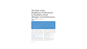 The Role of the Healthcare Professional in Paediatric Food Allergies and Intolerances