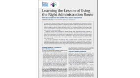 Learning the lesson of using the right administration route