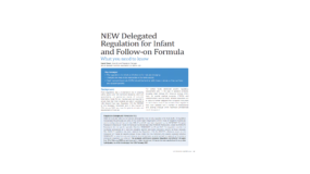 New Delegated Regulation for Infant and Follow-on Formula