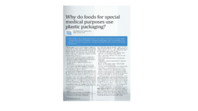 Why do foods for special medical purposes use plastic packaging?