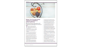 Better care through better nutrition: an effective patient pathway