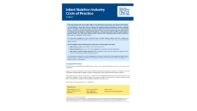 The Infant Nutrition Industry (INI) Code - Summary