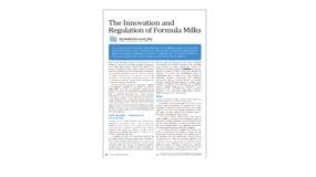 The Innovation and Regulation of Formula Milks